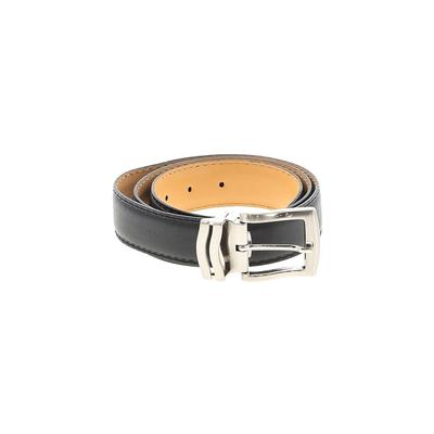 Johnston & Murphy Leather Belt: Black Solid Accessories - Size 36