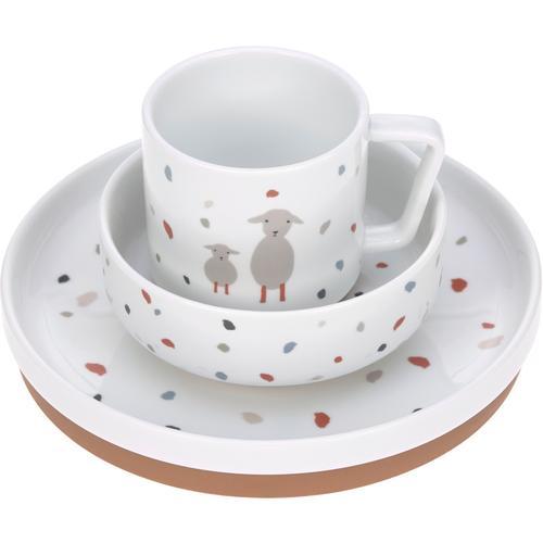 Lässig Kindergeschirr-Set Tiny Farmer, Sheep/Goose, (Set, 3 tlg.), rutschfest weiß Baby Kindergeschirr Geschirr, Porzellan Tischaccessoires Haushaltswaren