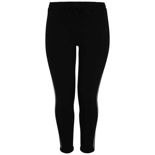 Hose mit Zierstreifen Doris Streich schwarz