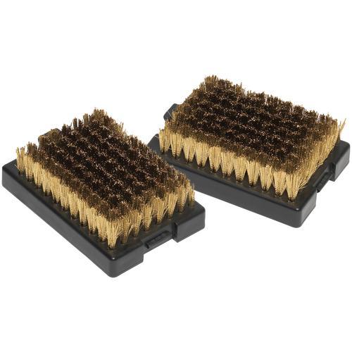 OUTDOORCHEF Grillbürste, Ersatzköpfe, 2 Stück, BxL: 6x8,8 cm schwarz Zubehör für Grills Garten Balkon Grillbürste