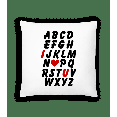 Love Alphabet - Kissen