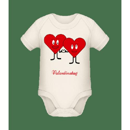 Valentinstag - Baby Bio Strampler
