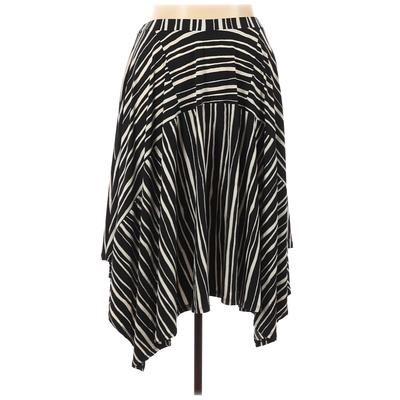 DKNY Casual Skirt: Black Print Bottoms - Size Large