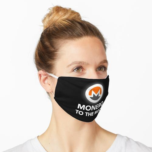 Monero zum Mond - Monero Coin Cryptocurrency Maske