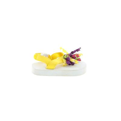 Flip Flops: Yellow Solid Shoes - Size 3-6 Month
