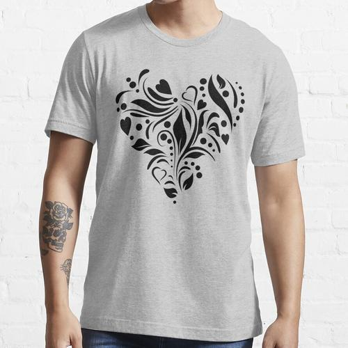 Graviertes Herz Essential T-Shirt
