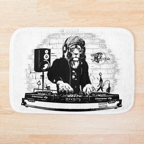 Der König der Löwen der Decks (Bring Tha Noise DJ) Badematte