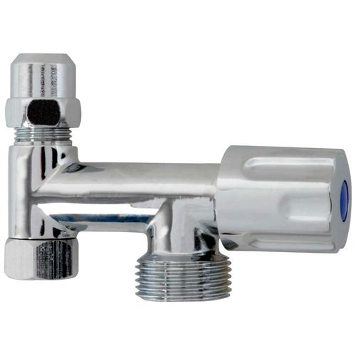 Kirchhoff 3-Wege-Ventil, Geräteanschluss Zusatzventil mit Rückflussverhinderer silberfarben Sanitärtechnik Bad Sanitär 3-Wege-Ventil