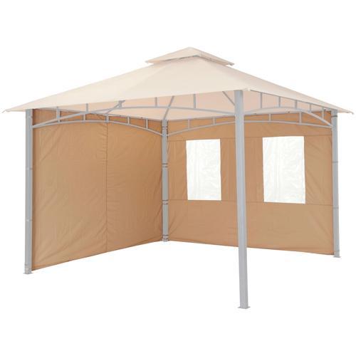 Tepro Pavillonseitenteile, für Serie Lehua und Waya beige Pavillons Garten Balkon Pavillonseitenteile