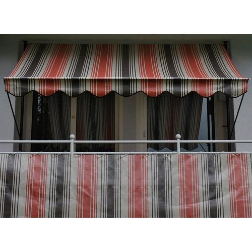 Angerer Freizeitmöbel Balkonsichtschutz Nr. 5100, Meterware, rot/beige/braun, H: 75 cm rot Markisen Garten Balkon