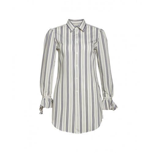 Polo Ralph Lauren Damen Gestreifte Bluse Beige