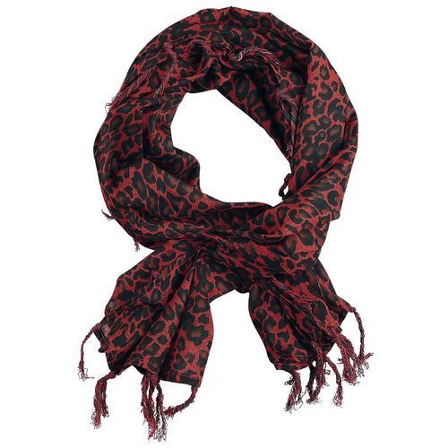 Rock Daddy Leoparden Halstuch Tuch - schwarz rot