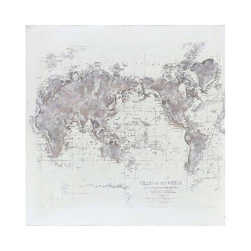 "die Faktorei Wandbild ""Weltkarte"" unikat - historisch 98_035"