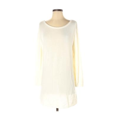 Designers Originals Casual Dress - Shift: Ivory Solid Dresses - Used - Size Small