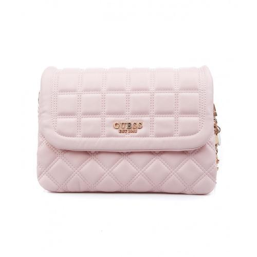 Guess Damen Gesteppte Tasche Kamina Pink