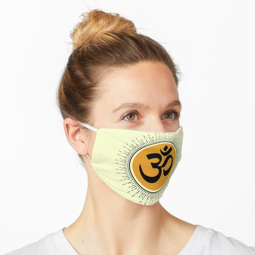 Lustiger Yoga und Kaffee Maske