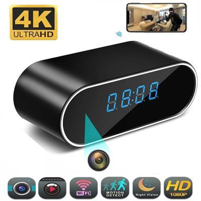 Mini caméra 4K 1080P HD, horloge...