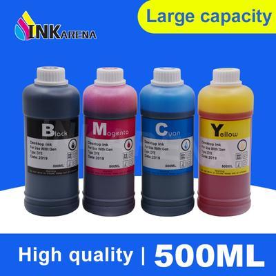 Inkara – Kit de recharge d'encre pour imprimante, 500ml, noir, pour Canon, Ciss, pour Epson,