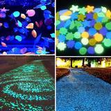 Pierres lumineuses fluorescentes...