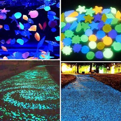 Pierres lumineuses fluorescentes pour Aquarium, décoration de jardin, extérieur, pour Aquarium,