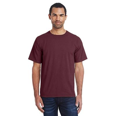 ComfortWash by Hanes GDH100 Men's 5.5 oz. Ringspun Cotton Garment-Dyed T-Shirt in Maroon size Large