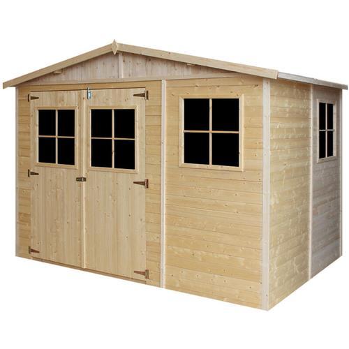 Timbela - Holz Gartenschuppen - Abstellkammer mit Fenstern - 216x324 cm/6 m²