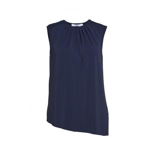 Kaos Damen Top mit Falten-Detail Blau
