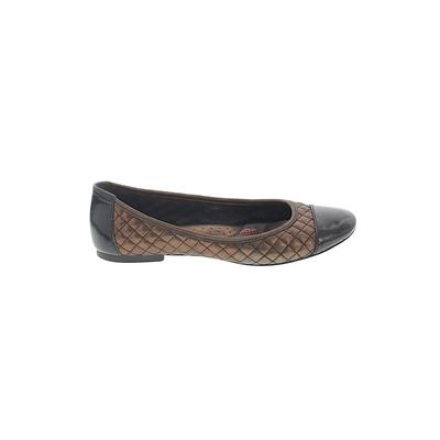 Born Handcrafted Footwear Flats: Brown Print Shoes - Size 7 1/2