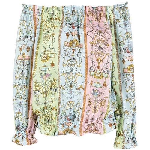 Versace Jeans Bluse mit Blumen-Print
