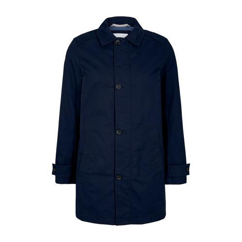 TOM TAILOR Herren kurzer Mantel aus Twill, blau, Gr.L