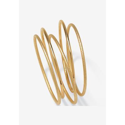 Women's 5-Piece Bracelet Set by PalmBeach Jewelry in Gold