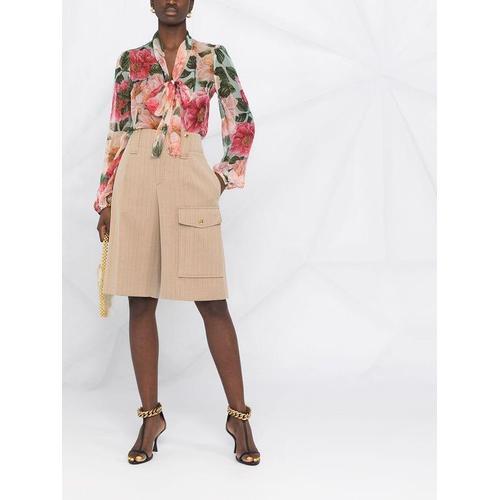 Dolce & Gabbana Seidenbluse mit Blumen-Print