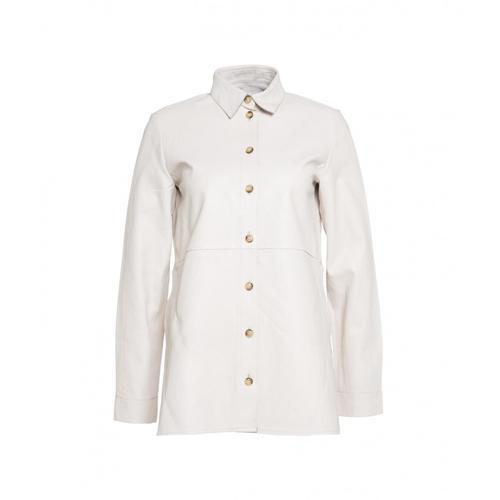 Bully Damen Hemd aus Leder Weiß
