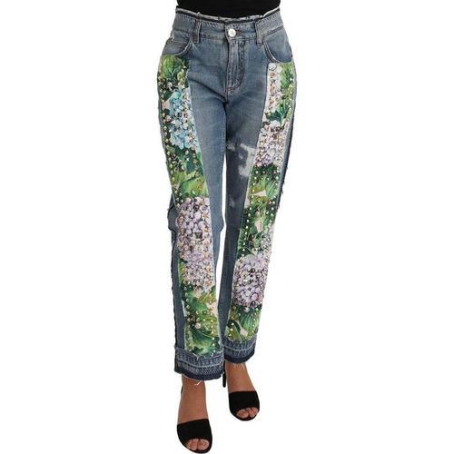Dolce & Gabbana Hortensie Jeans Blumen