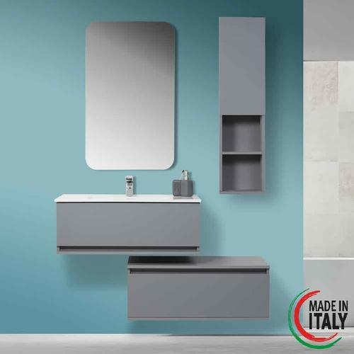 Separate hängende Badezimmerzusammensetzung 90 cm grau Pastello 803003   Grau - Feridras
