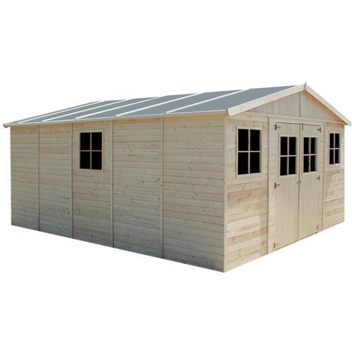Timbela - Holz Gartenschuppen - Abstellkammer mit Fenstern - 418x520 cm/20 m²