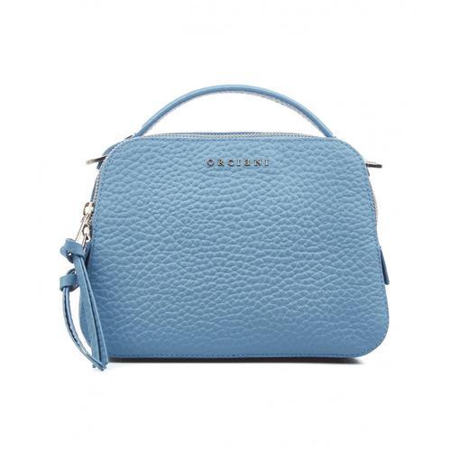 Orciani Damen Mini Handtasche aus Nappaleder Blau