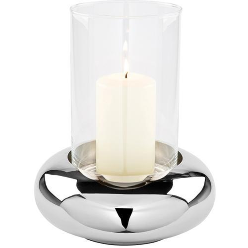 Fink Windlicht DELPHI, aus Edelstahl und Glas silberfarben Kerzenhalter Kerzen Laternen Wohnaccessoires