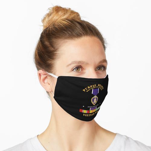 Lila Herz - WIA mit VN SVC mit lila Herzband Maske