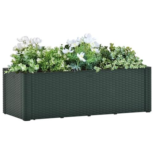 vidaXL Garten-Hochbeet mit Selbstbewässerungssystem Grün 100x43x33 cm