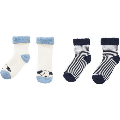 Frottee-Socken, blau, Gr. 12/14