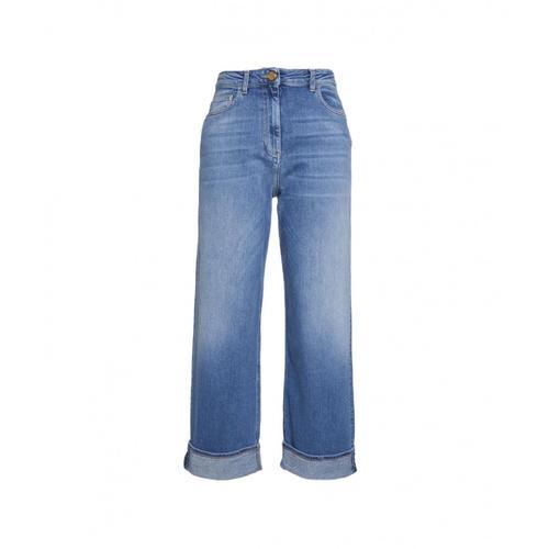 Elisabetta Franchi Damen Mom Jeans Blau
