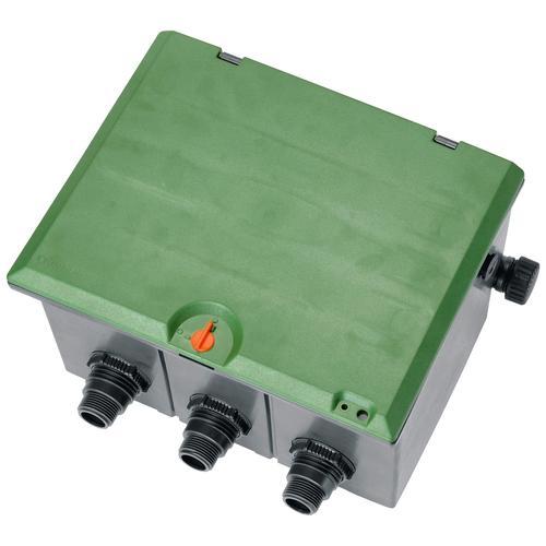 GARDENA Bewässerungssteuerung Ventilbox V3, 01255-20, für bis zu 3 Bewässerungsventile grün Bewässerungssysteme Bewässerung Garten Balkon