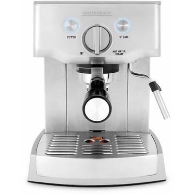 Gastroback Espressomaschine Design Espresso Pro 42709 silberfarben Kaffee SOFORT LIEFERBARE Haushaltsgeräte