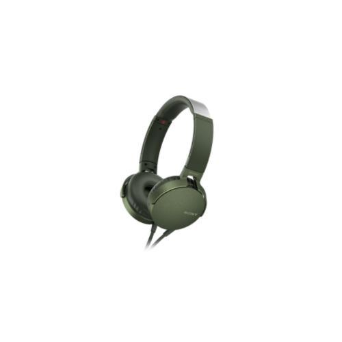 Sony XB550AP Kopfhörer Kopfband Grün