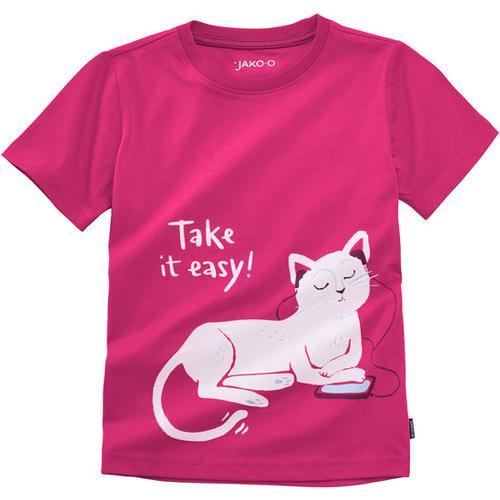 T-Shirt lustige Tiere, pink, Gr. 116/122