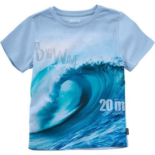 T-Shirt Fotodruck Naturgewalten, blau, Gr. 116/122