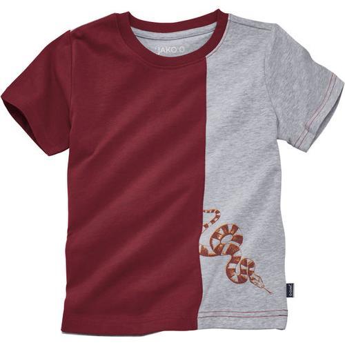 T-Shirt Kontrast, rot, Gr. 128/134