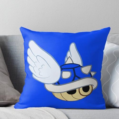 Blaue Schale Kissen