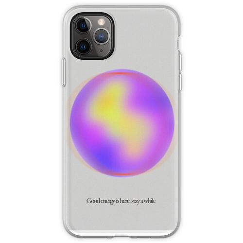 Ruhige Gaußsche Unschärfegradientenkugel Flexible Hülle für iPhone 11 Pro Max
